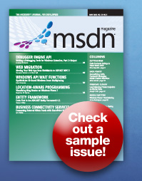 Sample Issue of MSDN Magazine