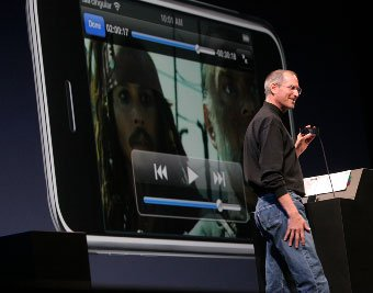 Steve Jobs introducing the iPhone at Macworld