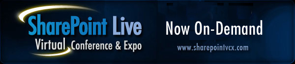 Sharepoint Live! Virtual Conference & Expo: Nov 5, 2009