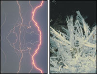 Lightning and Ice Crystals